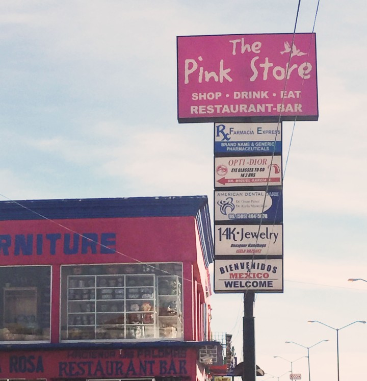 Pink Store sign